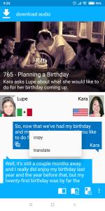 Copy and Translate on longpress